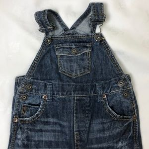 GUESS • Blue Denim Distressed Overall • Size 24M